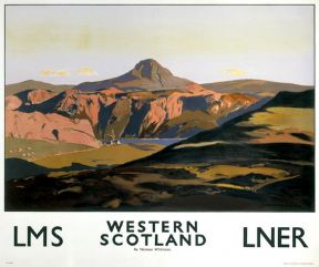 Western Scotland, Scottish Railway Travel Poster Art Print by Norman Wilkinson, LMS and LNER